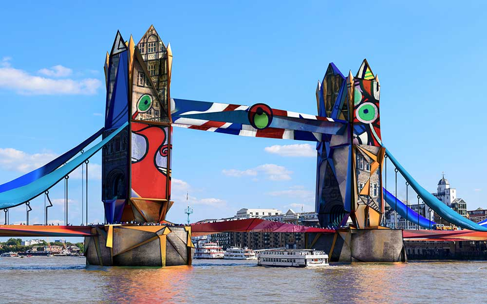 London Tower Bridge if designed by Picasso
