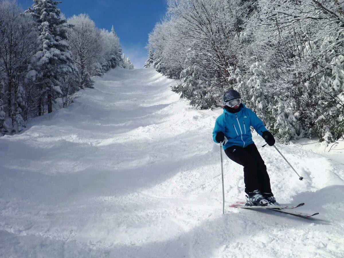 Skiing in Quebec, Canada