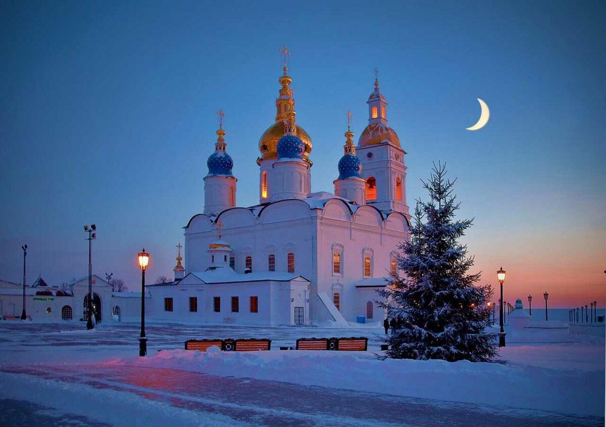 Church in the town of Tobolsk, Siberia, Russia