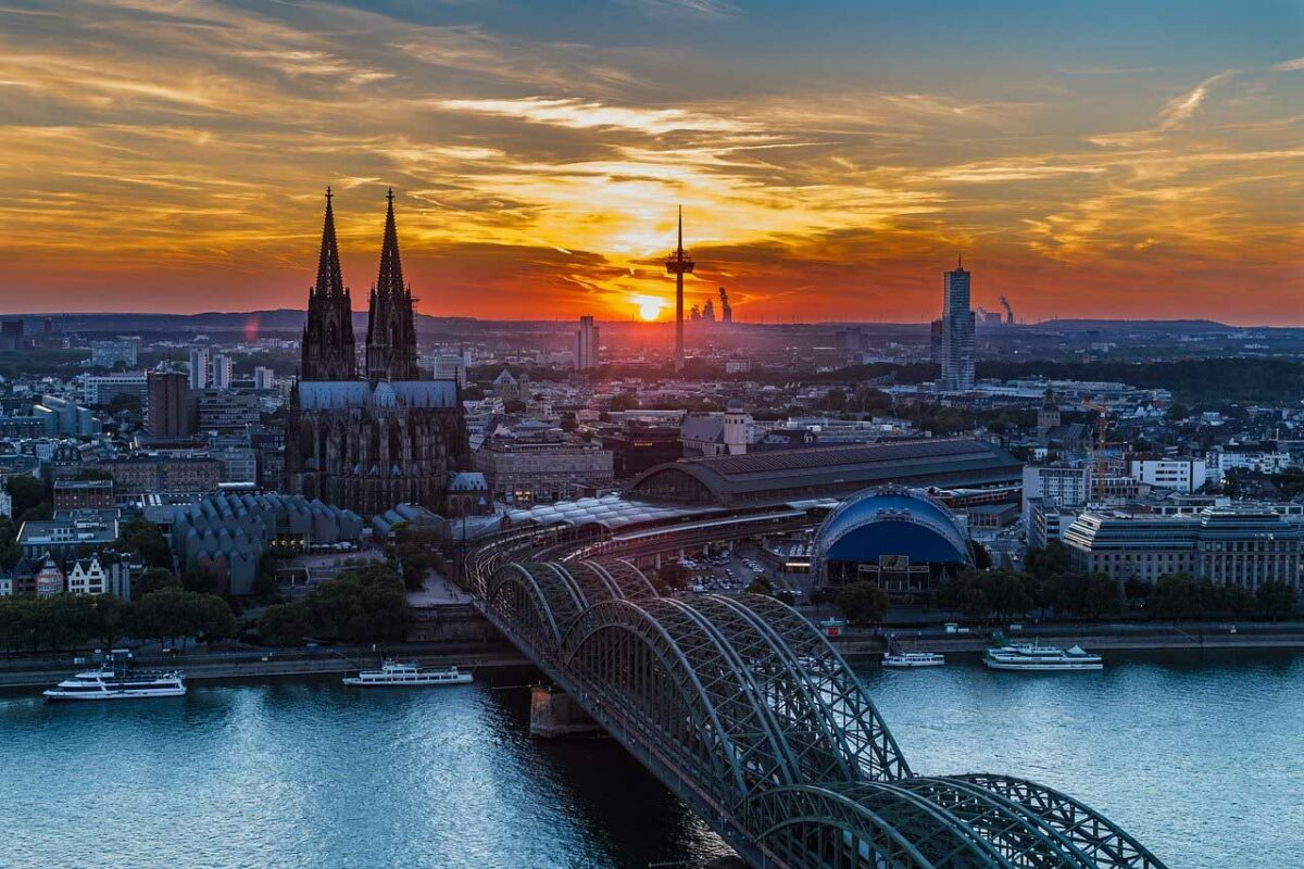Cologne, Germany at Sunset