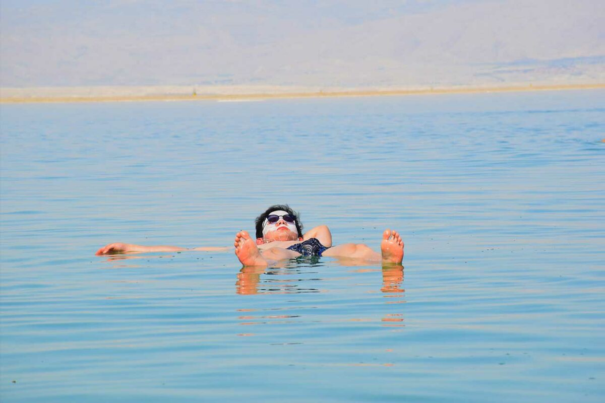 Floating in The Dead Sea, Israel