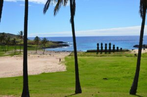 Surfing on Easter Island