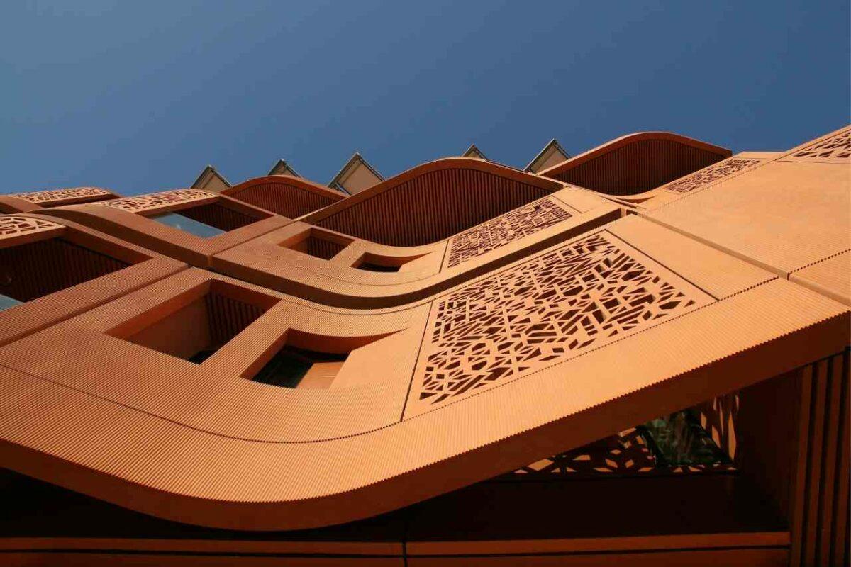 Heat reflective building in Masdar City Dubai