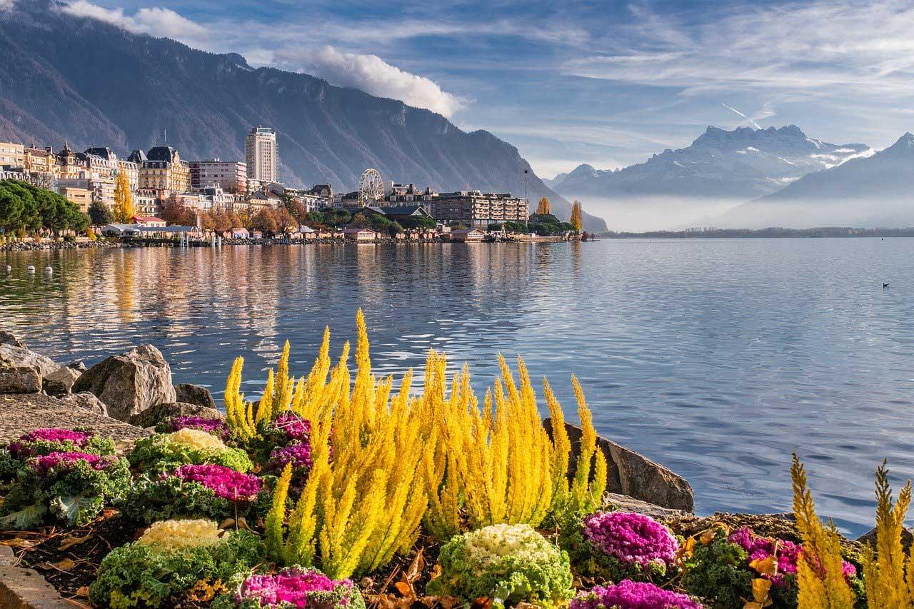 Montreux, Switzerland on Lake Geneva