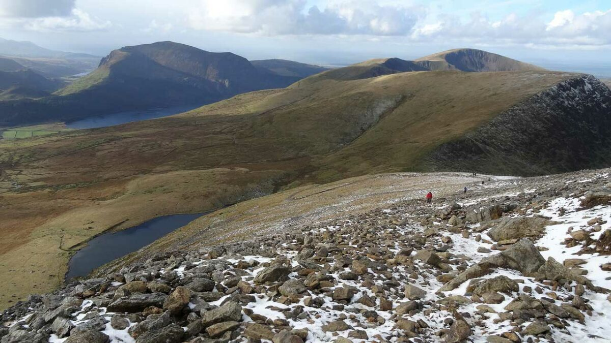 Hiking on Mount Snowdon in Wales