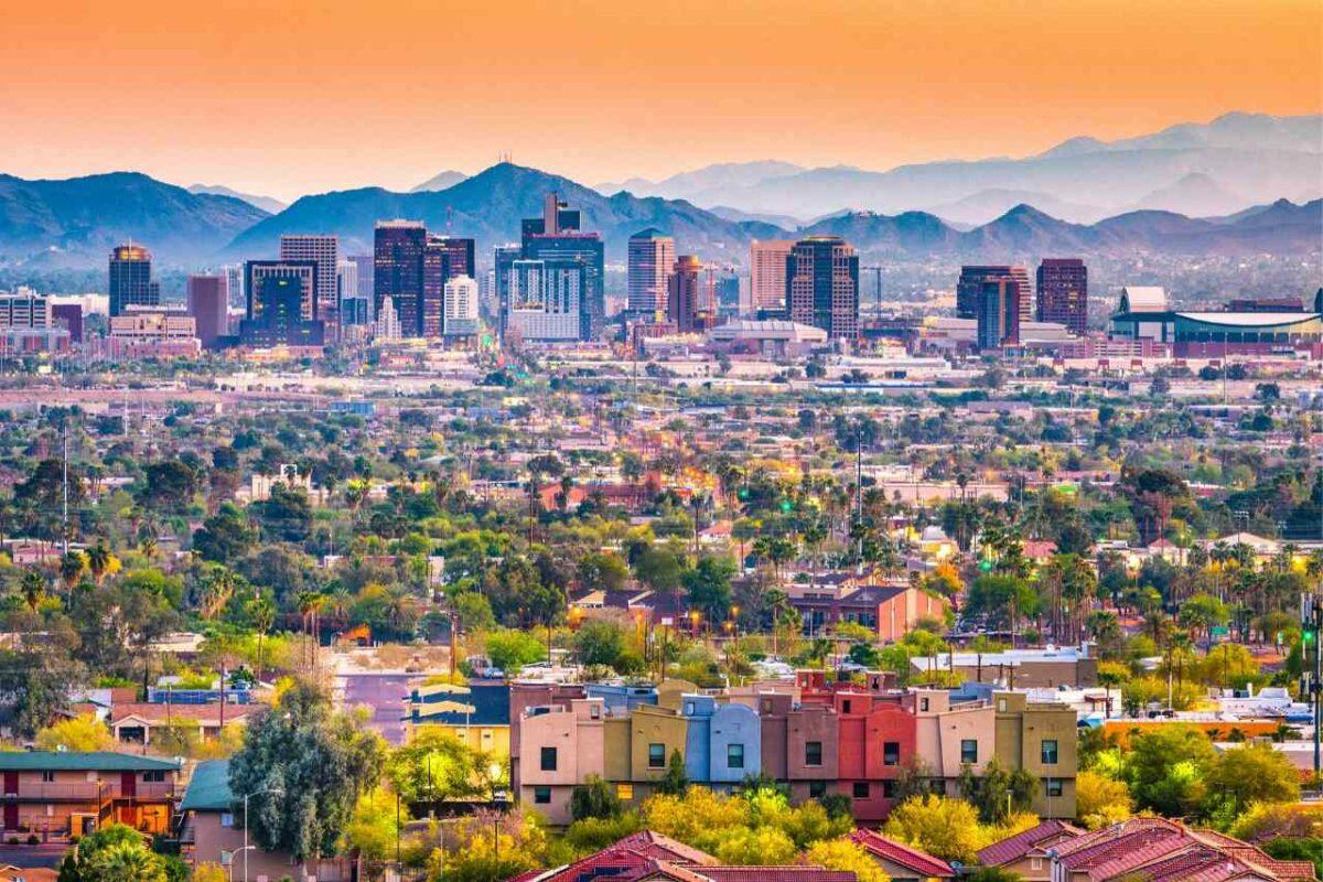 Phoenix, Arizona cityscape, a one of the beautiful tourist attractions in Arizona
