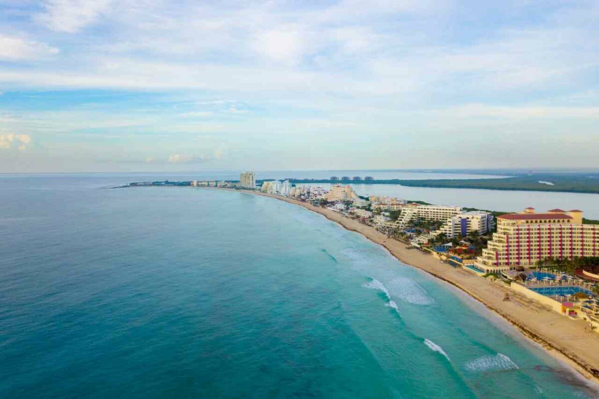 Playa Delfines, one of the many beach attractions in Cancun