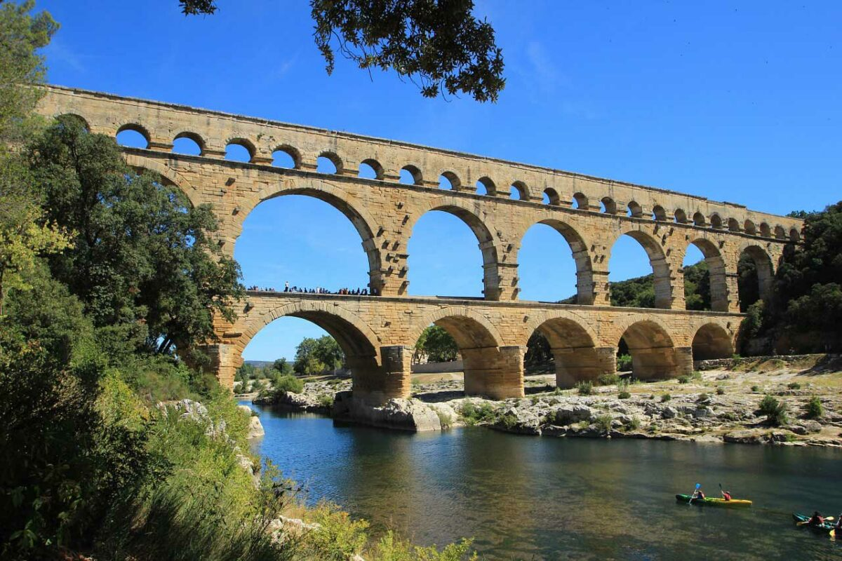 Pont du Gard roman aquaduct in France