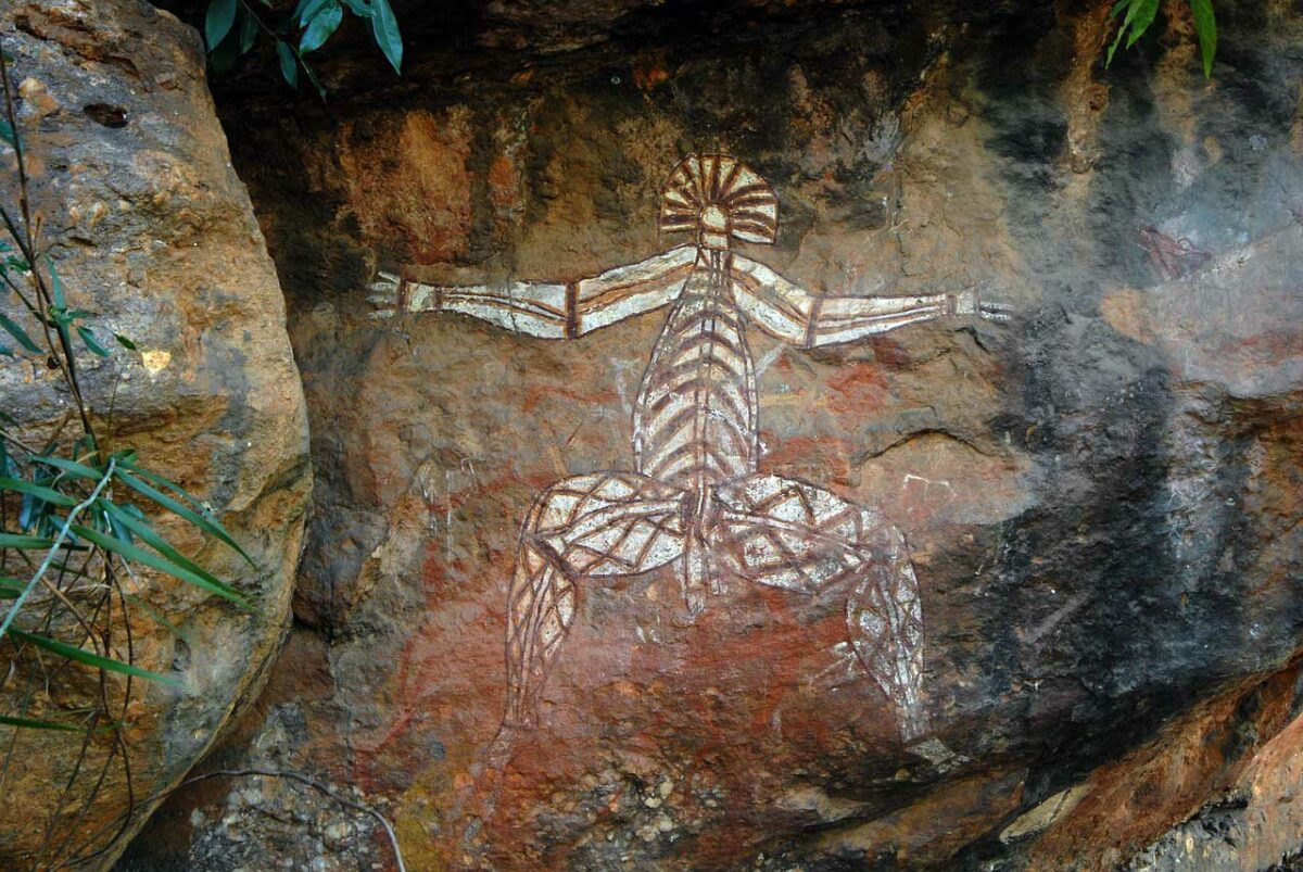 Aboriginal rock painting in the Kakadu National Park