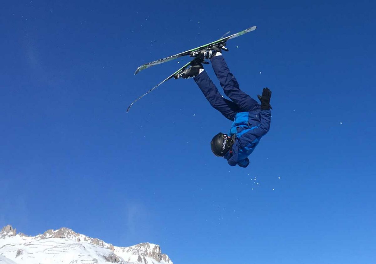 Skier in Val d'Isere, France