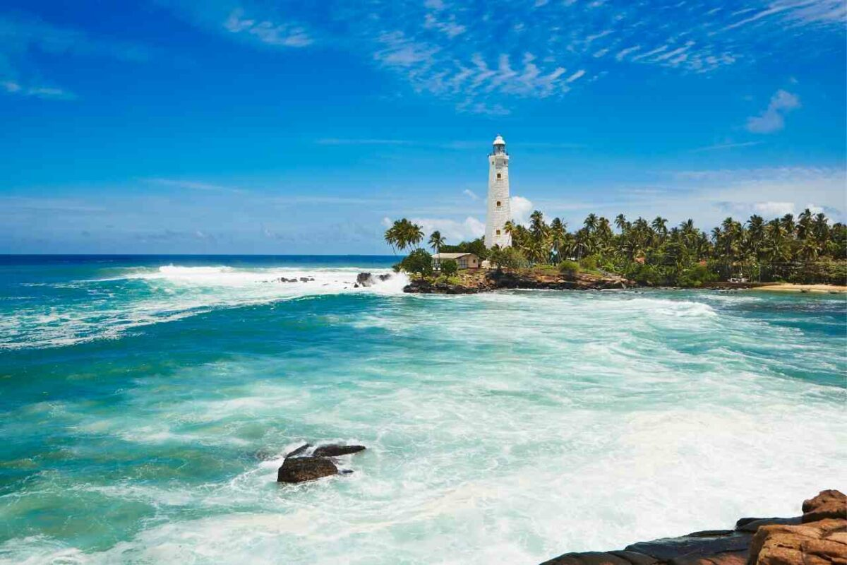 White lighthouse, Sri Lanka