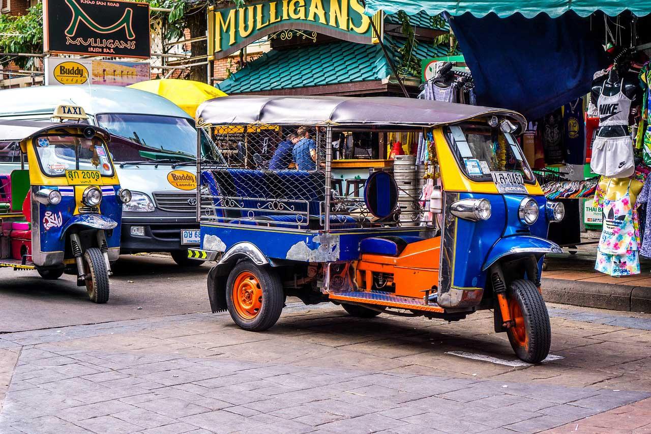 Tuk Tuk, one mode of transportation in Bangkok, Thailand