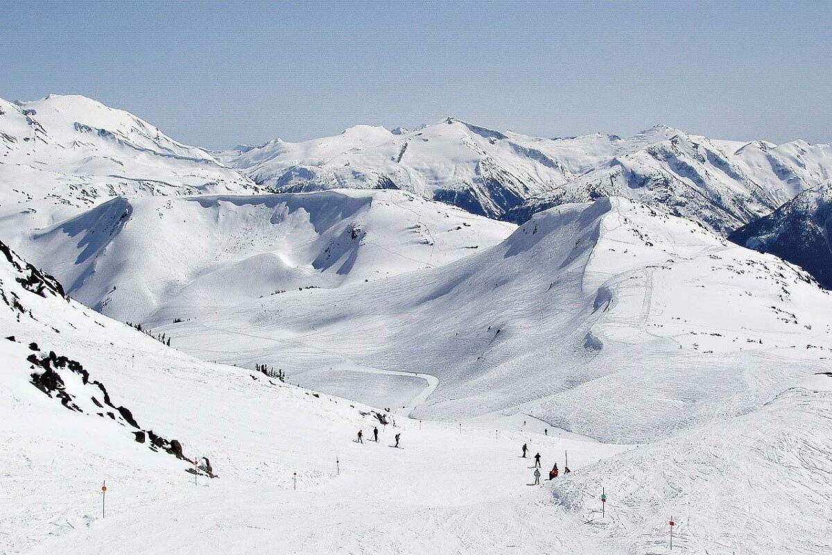 Ski run in Whistler, Canada