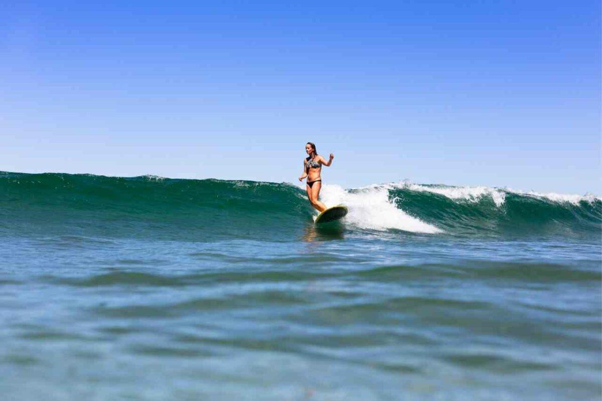 surfer at Malibu Lagoon