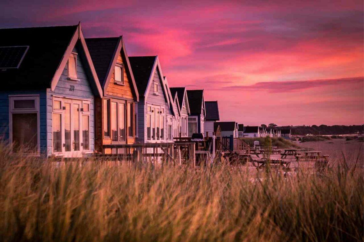 Beach houses at Bournemouth Beach
