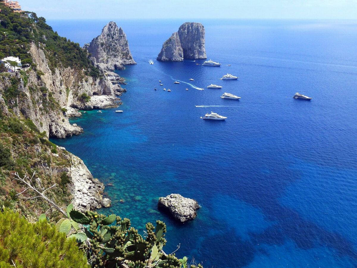 Faraglioni - sea stacks - off the coast of Capri in Italy