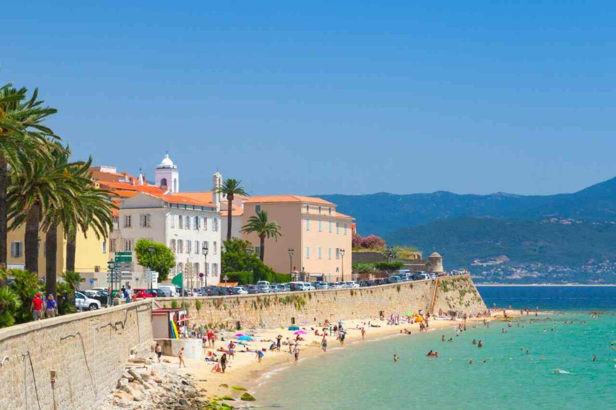 Beach in Ajaccio, Corsica