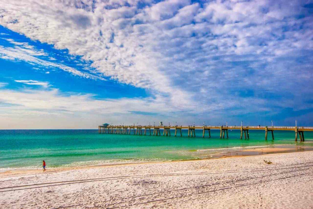 Destin, Florida beach and pier