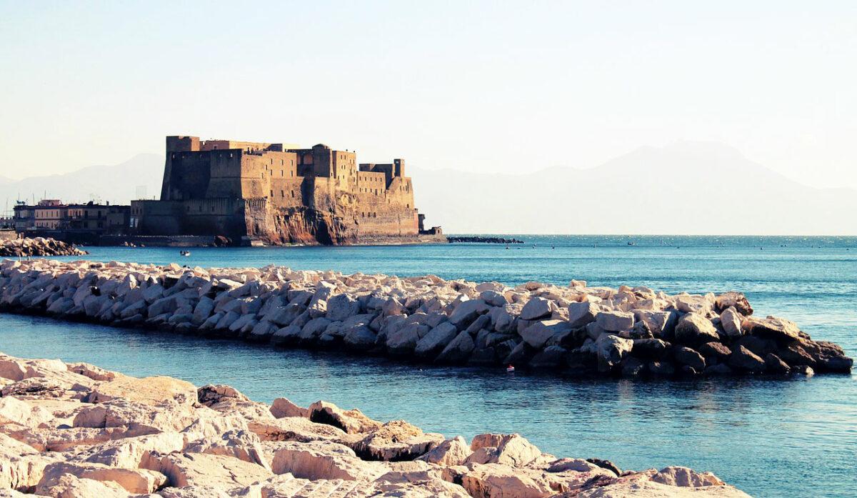 Naples castle on the sea