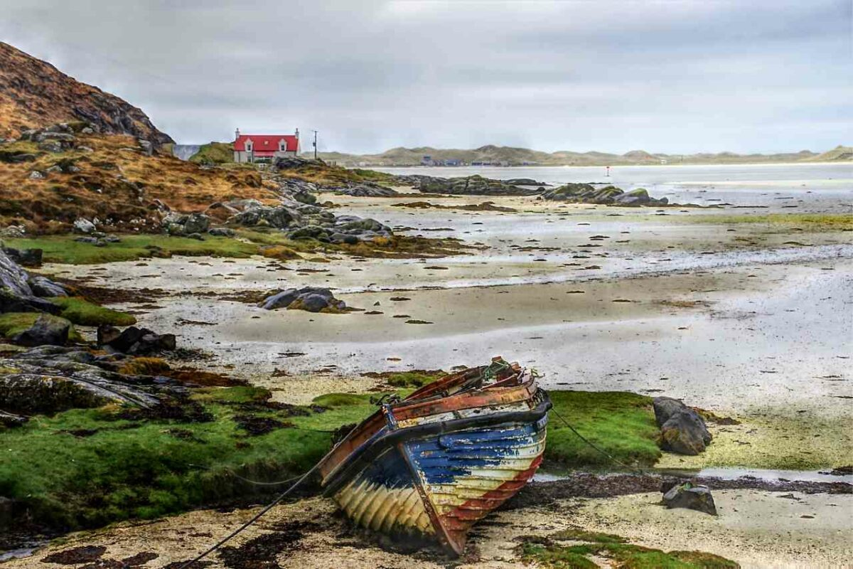 Boat in the Outer Hebrides, Scotland