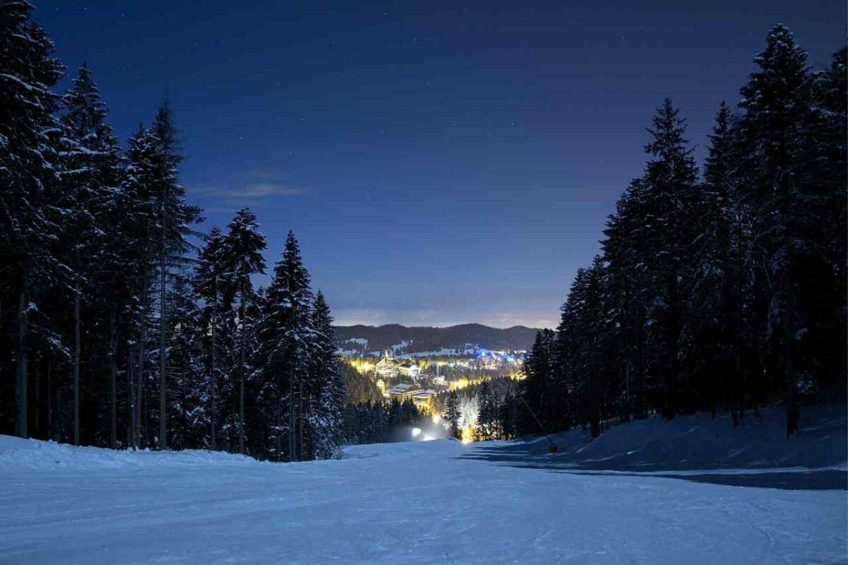 Poiana Brasov Skiing at Night