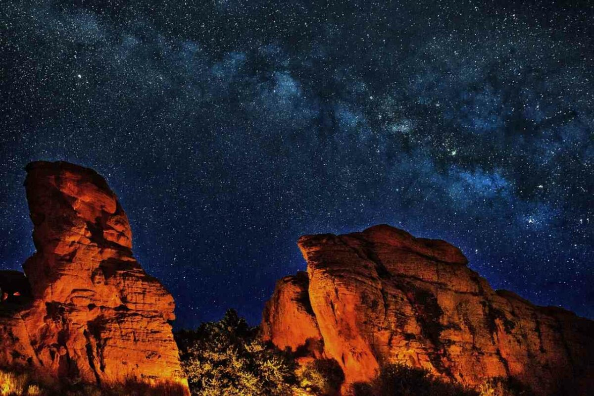 A starry night at the Grand Canyon