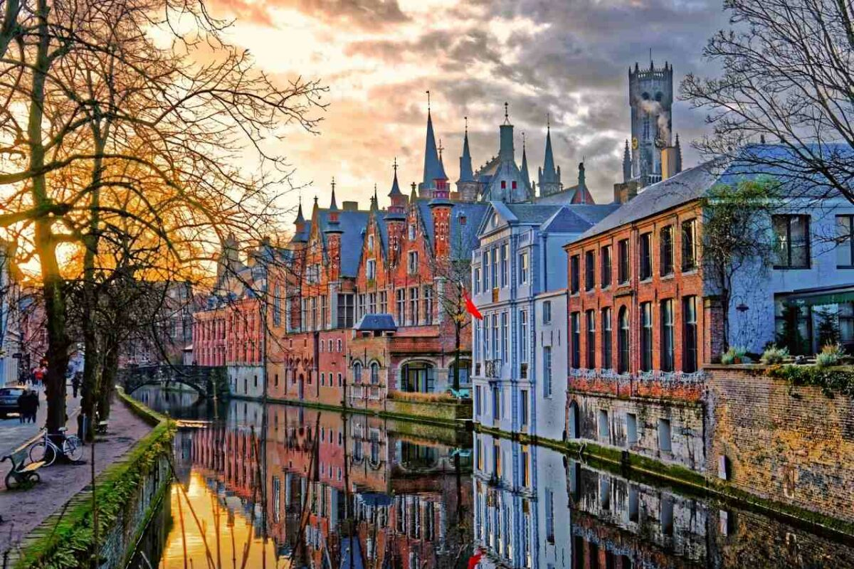 A Canal in Bruges, Belgium