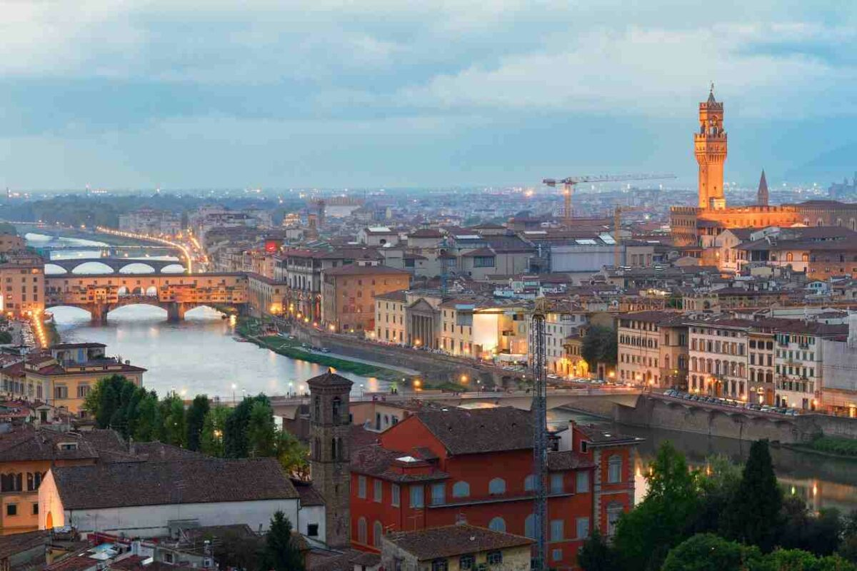 Florence, Italy and the Ponte Vecchio