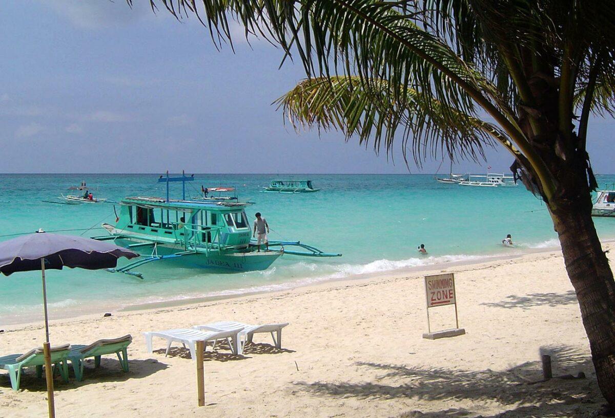 Boat on Boracay Beach, Philippines