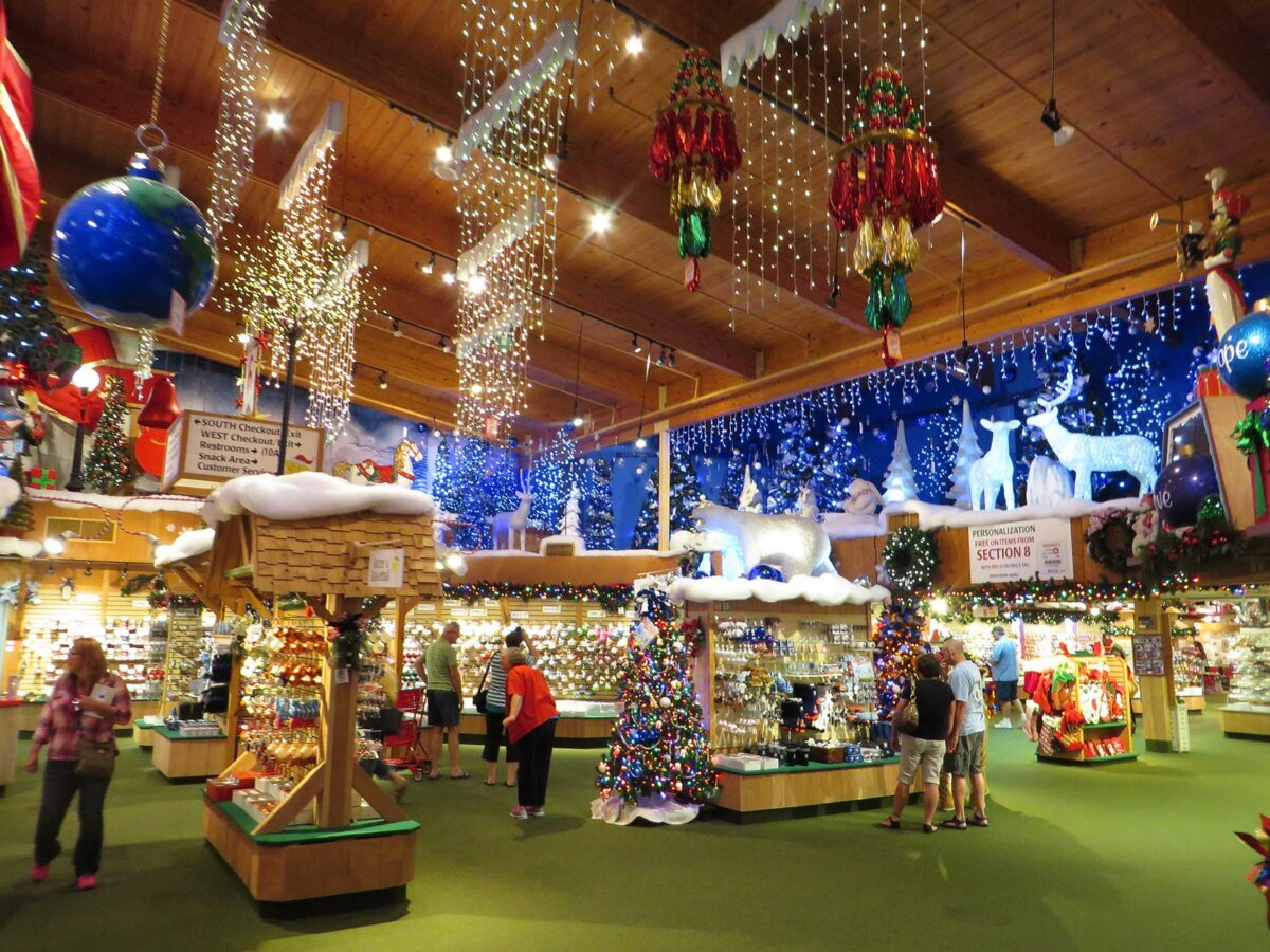 Bronner's Christmas Store in Frankenmuth, Michigan