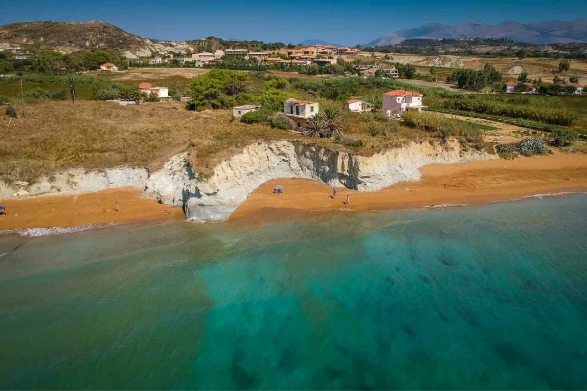 Orange Sand Beach, Xi Beach, Kefalonia, Greece