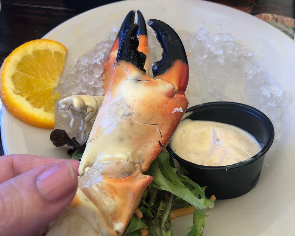Stone Crab Claw at Island Fish Company