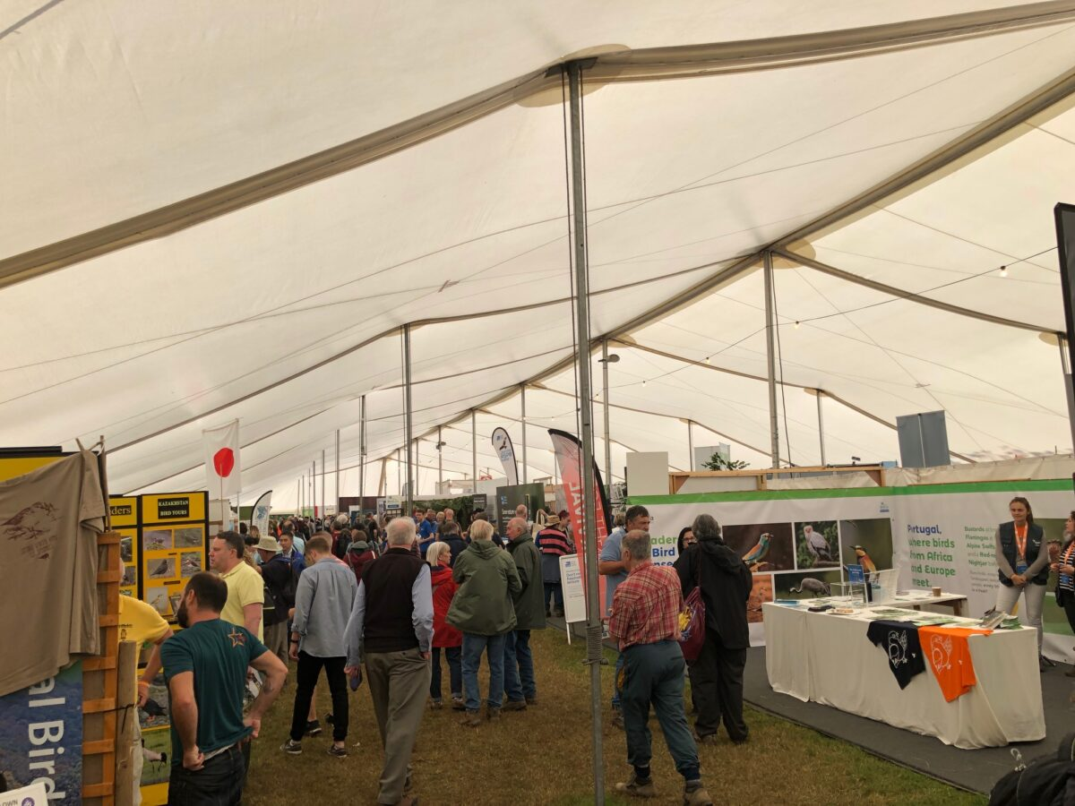 Birdfair tent and booths
