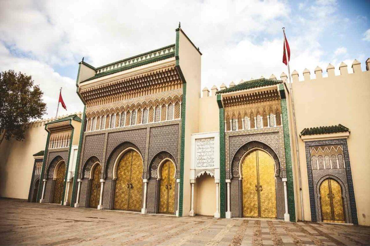 Dar el Makhzen palace entrance