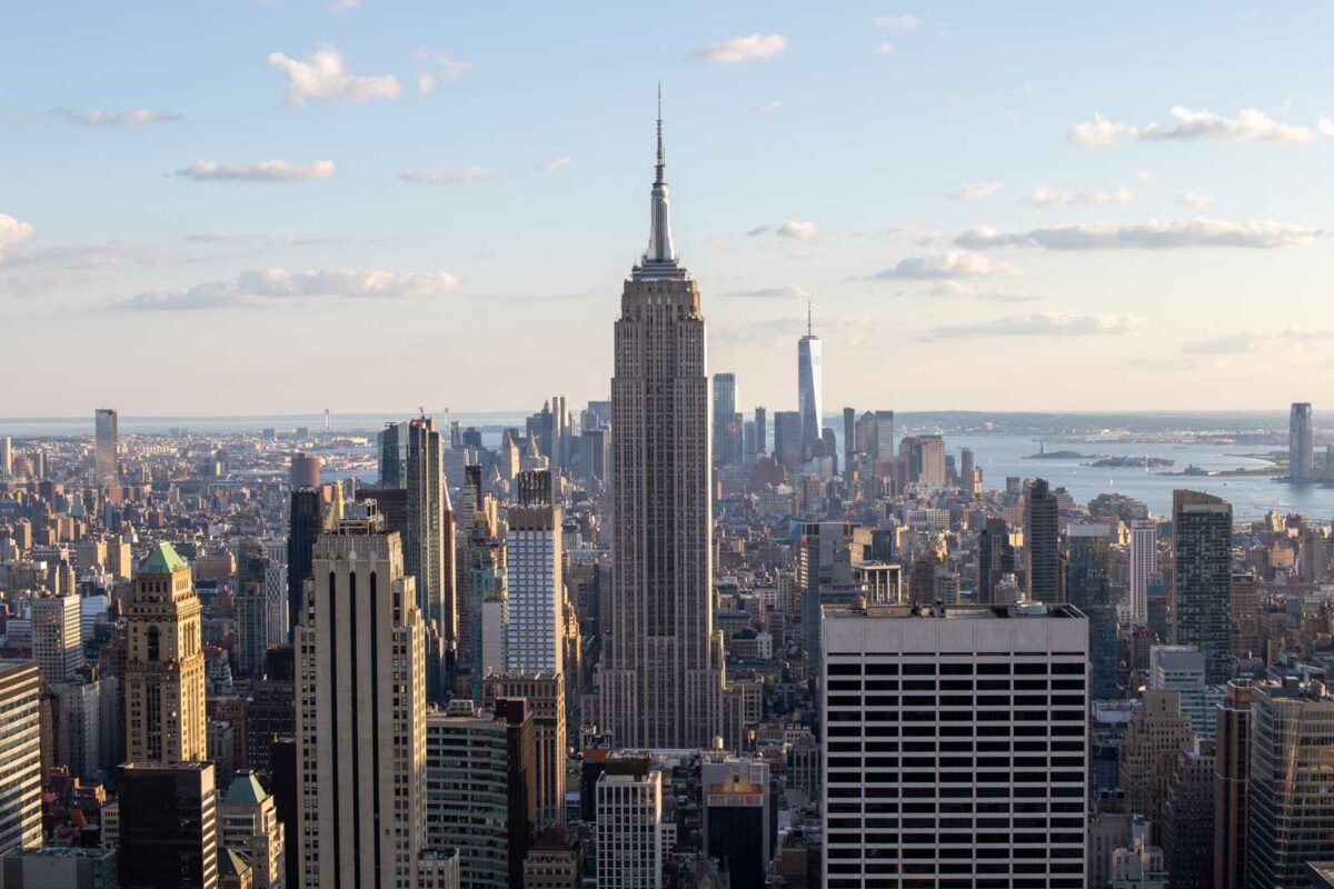 My 2 days in New York City Itinerary includes a view of the skyline from Top of the Rock