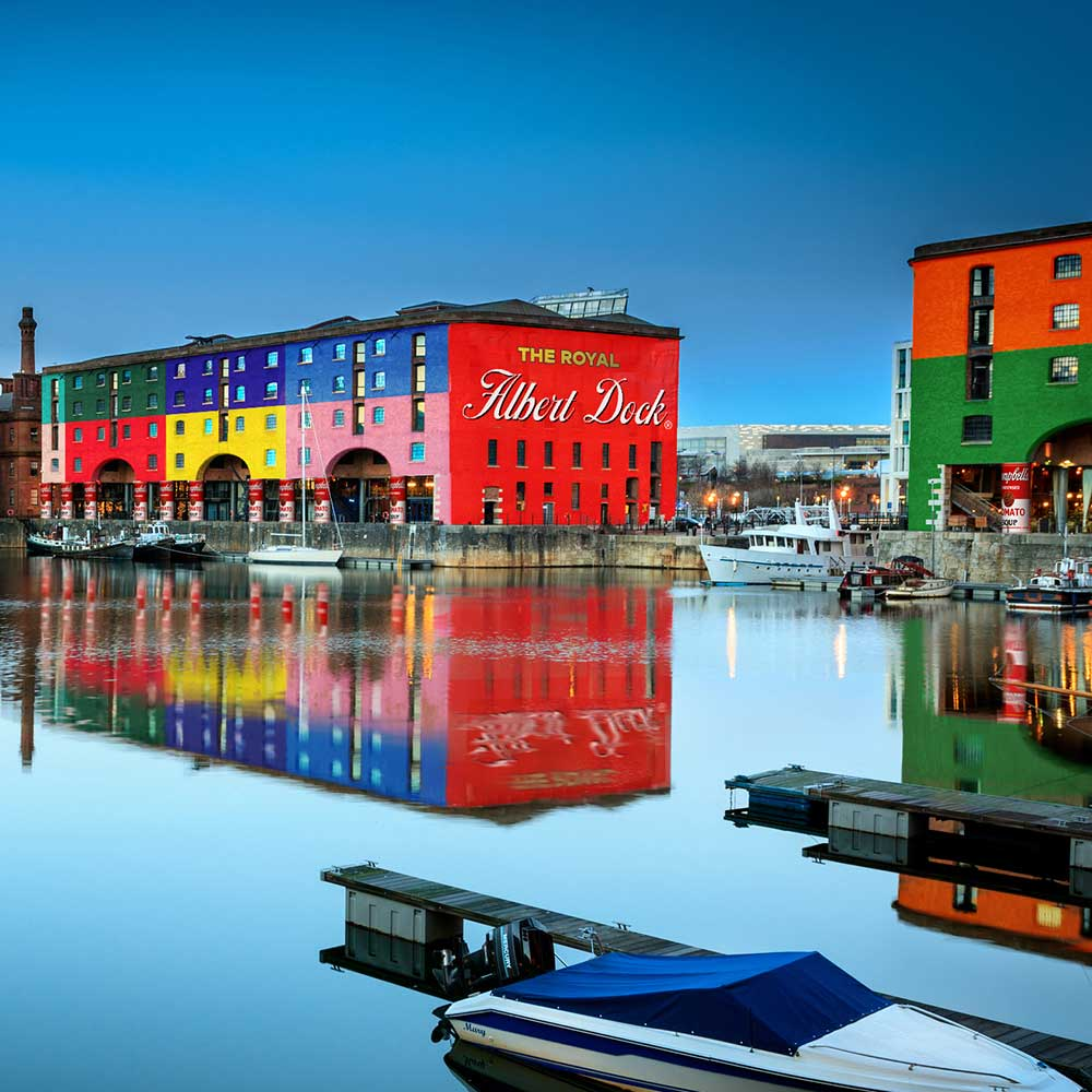 Albert Docks if designed by Andy Warhol