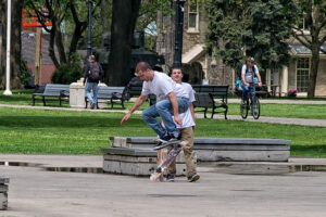 Skateboarding in Victoria Park by phrawr on Flickr