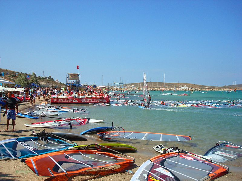 Windsurfing in Alacati, Turkey