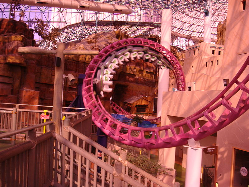 Canyon Blaster Roller Coaster at Adventuredome, Las Vegas