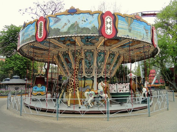 A Carousel at Tivoli Gardens, Copenhagen, Denmark