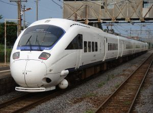 Japan's 885 series White Sonic Limited Express EMU, also operated by Kyushu