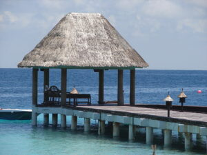 A Dock in the Maldives