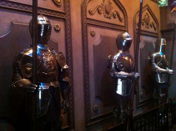 Suits of Armor at the Be Our Guest Restaurant