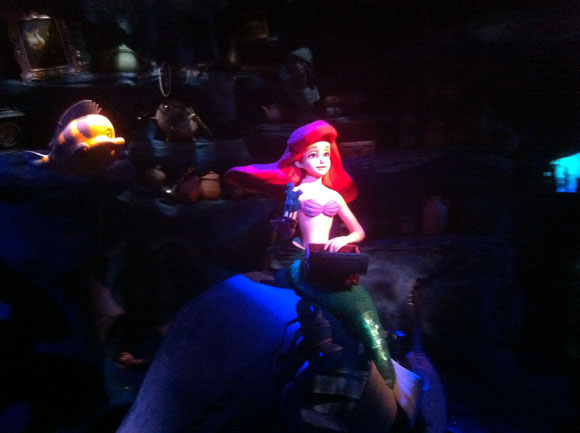 Ariel and Flounder on Little Mermaid the Ride