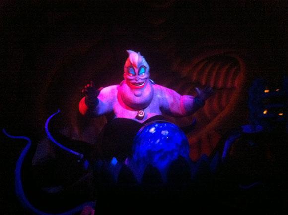 Ursula on The Little Mermaid Ride