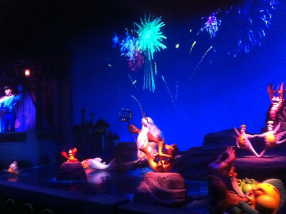 Little Mermaid the Ride Finale - The Wedding and King Triton