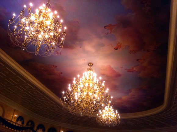 The Ceiling of the Ballroom at Be Our Guest Restaurant