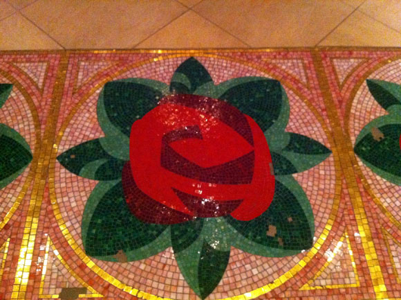 Rose Mosaic on the Floor in the Rose Gallery