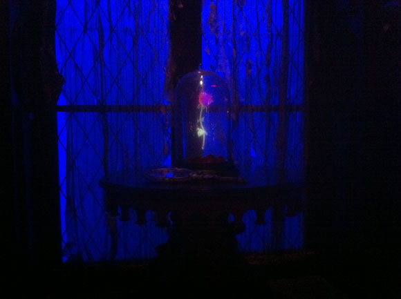 Beast's Magic Rose in the West Wing in Be Our Guest Restaurant