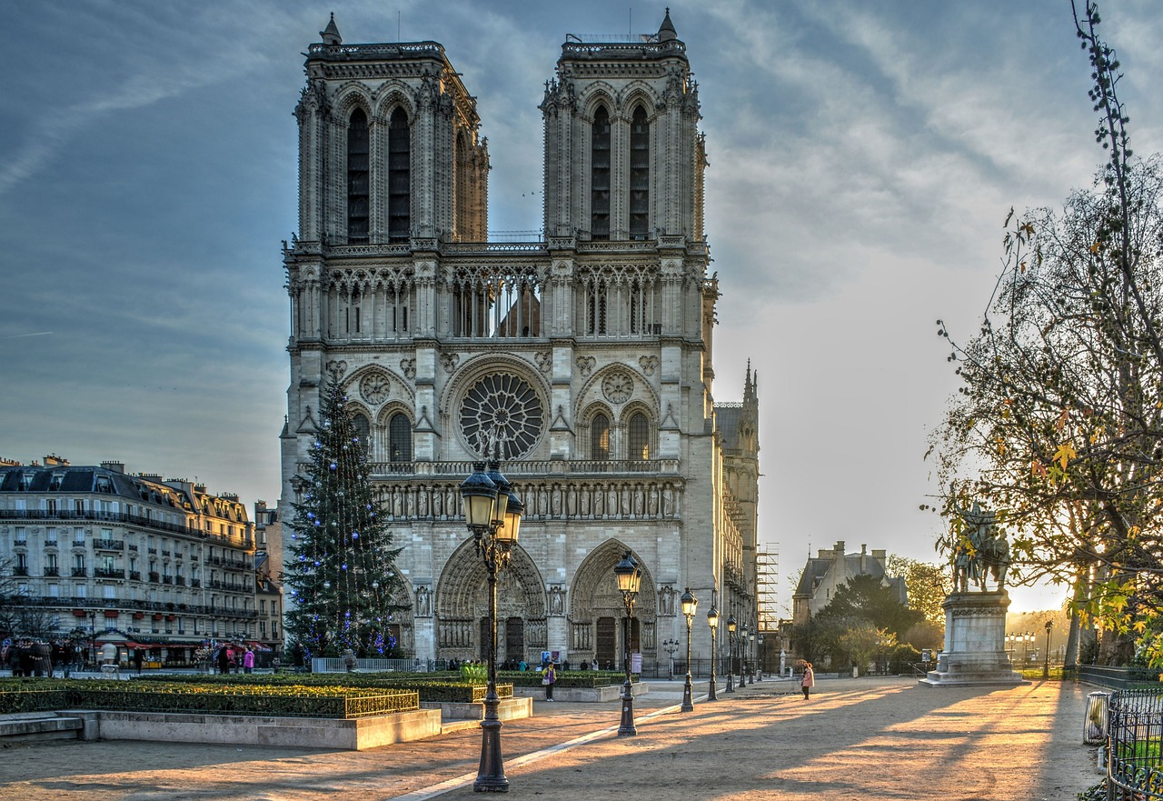 Christmas, Notre Dame Cathedral, Paris, France